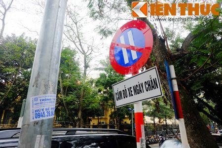 Duong pho Ha Noi thoang dang trong ngay do xe chan le - Anh 13