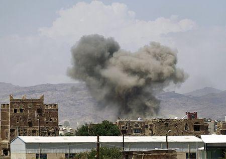 Lien quan khong kich o Yemen, 20 dan thuong thiet mang - Anh 1