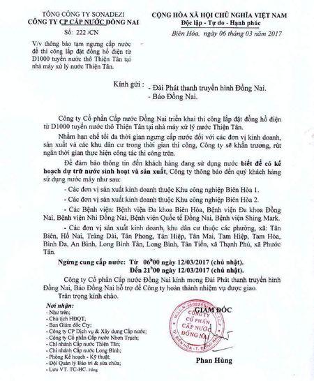 Bien Hoa se cup nuoc tren dien rong - Anh 1