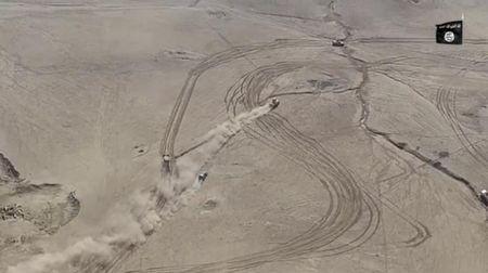 Xe bom IS ruot duoi thiet giap quan doi Iraq tren sa mac - Anh 1