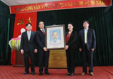 Hinh anh: Chu tich Quoc hoi tham Nha may Thuy dien Lai Chau - Anh 2
