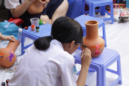 TP. Ho Chi Minh: Hon 1.500 hoa si nhi so tai ve tranh 'Net ve xanh nam 2017' - Anh 6