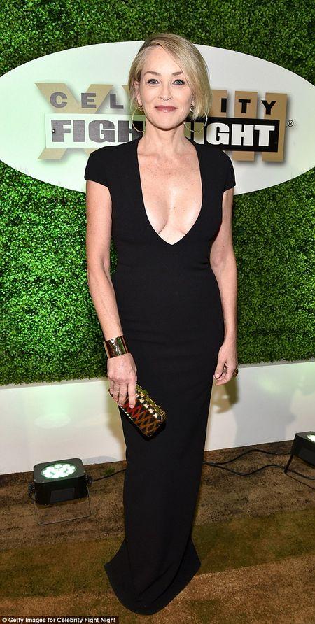 Sharon Stone U60 van day loi cuon voi trang phuc sexy - Anh 1