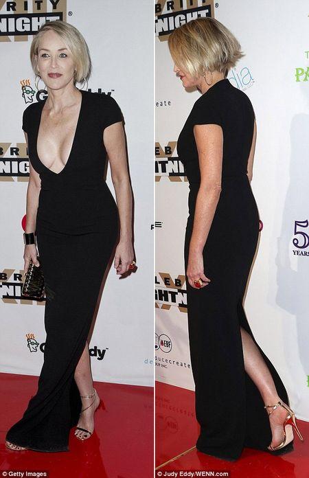 Sharon Stone U60 van day loi cuon voi trang phuc sexy - Anh 4