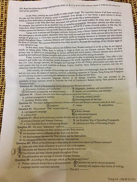 De thi thu mon Tieng Anh: Vua suc - Anh 5