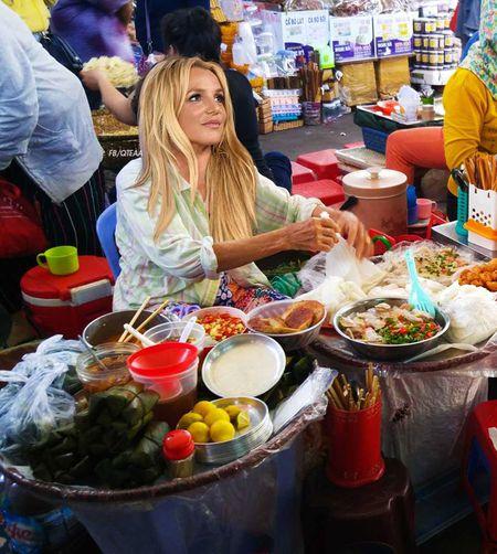 Anh che Beyonce ban banh my, Katy Perry buon khoai o Viet Nam - Anh 4