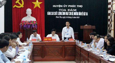 Phuc Tho: Toa dam nang cao chat luong sinh hoat chi bo - Anh 1