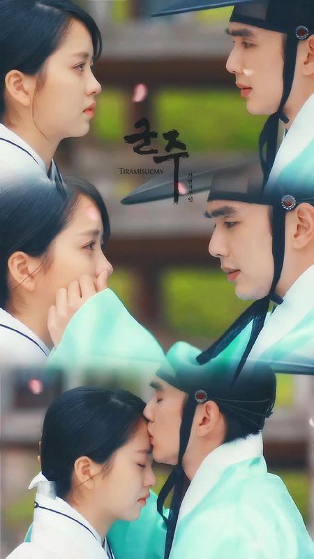 """Mat na quan vuong"": Yoo Seung Ho va Kim So Hyun co nu hon tran ""tinh nhu cai binh"" - Anh 2"