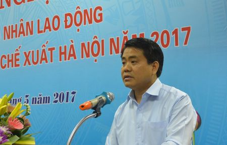 Chu tich Ha Noi doi thoai voi cong nhan khu cong nghiep Noi Bai - Anh 4