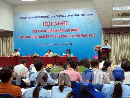 Chu tich UBND thanh pho Ha Noi doi thoai voi cong nhan lao dong - Anh 1