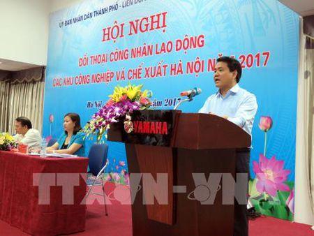 Chu tich UBND thanh pho Ha Noi doi thoai voi cong nhan lao dong - Anh 2