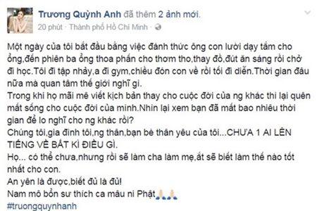 Truong Quynh Anh chinh thuc len tieng sau khi tin ly hon bi phat tan - Anh 1