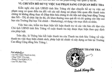 Dieu tra vu sai pham tien ty tai truong cao dang Cong dong Soc Trang - Anh 2