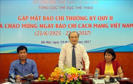 Tong cuc TDTT gap mat Bao chi chao mung ngay Bao chi Cach mang Viet Nam - Anh 1
