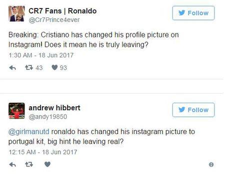 Ronaldo thay anh dai dien Instagram, sap roi Real den Man Utd? - Anh 3