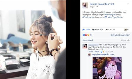 Hotgirl Kieu Trinh khien dan mang ran ran khi share anh Son Tung voi ten goi 'ban trai moi cua Phuong Xu' - Anh 1