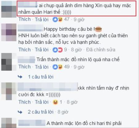 Tran Thanh bi fan nghi ngo 'mac nham quan' Hari Won khi du sinh nhat con trai Ha Ho - Anh 4
