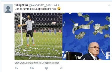 Bi nem tien vao nguoi, Donnarumma duoc goi la 'truyen nhan' cua Sepp Blatter - Anh 5