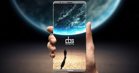 Galaxy Note 8 co the lo hen voi may quet van tay an duoi man hinh - Anh 1