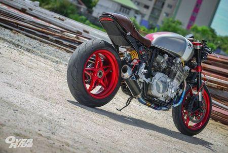 Moto Yamaha XJR1300 'lot xac' cafe racer sieu chat - Anh 9