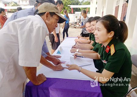 800 thuong benh binh huyen Anh Son duoc kham, cap thuoc mien phi - Anh 1
