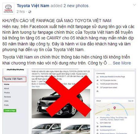 Hang chuc nghin nguoi dinh 'qua lua' tang xe Toyota Camry - Anh 1