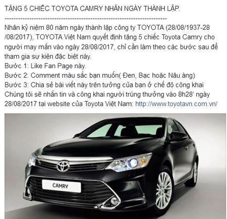 Hang chuc nghin nguoi dinh 'qua lua' tang xe Toyota Camry - Anh 2
