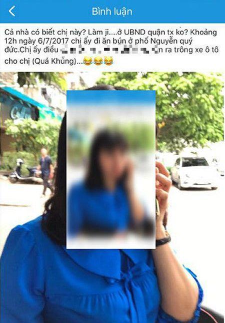 Vu Pho Chu tich quan Thanh Xuan dau xe an bun: Long duong cua ai? - Anh 1