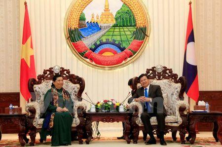 Lanh dao Lao tiep Doan dai bieu cap cao Dang, Nha nuoc Viet Nam - Anh 3