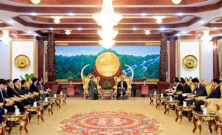 Lanh dao Lao tiep Doan dai bieu cap cao Dang, Nha nuoc Viet Nam - Anh 4