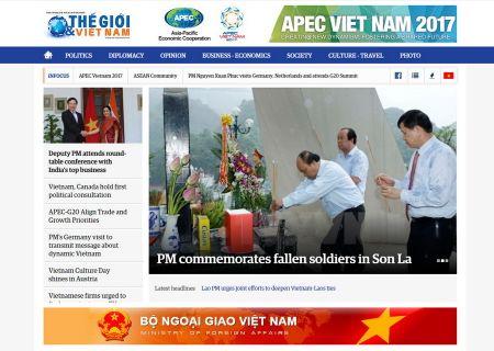 Ra mat Bao dien tu The gioi va Viet Nam phien ban tieng Anh - Anh 1