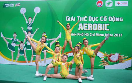 Giai The duc co dong Aerobic TP.HCM tranh cup Milo - Anh 1