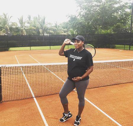 Serena duoc khen hop voi mang bau - Anh 6