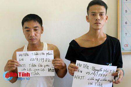 Cong an TP Ha Tinh khoi to 2 vu tang tru ma tuy - Anh 1