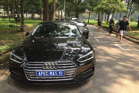 """Xem """"trien lam"""" xe sang Audi phuc vu APEC 2017 tai Dinh Thong Nhat - Anh 1"""