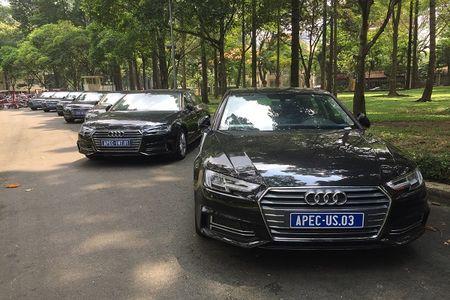 """Xem """"trien lam"""" xe sang Audi phuc vu APEC 2017 tai Dinh Thong Nhat - Anh 5"""