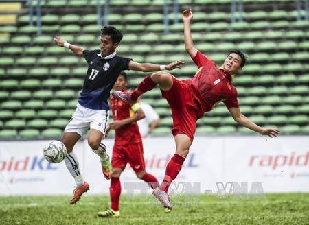 SEA Games 29: HLV cua Malaysia va Myanmar theo doi U22 Viet Nam thi dau - Anh 1