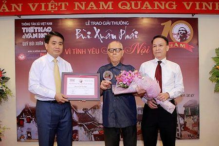 Pho di bo Ho Guom duoc vinh danh tai giai thuong Bui Xuan Phai - Anh 1