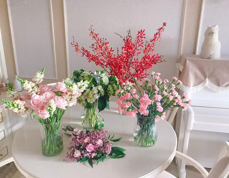 Tro tai cam hoa cuc kheo, HH Pham Huong goi y nhung cach trang tri nha tuyet dep - Anh 4