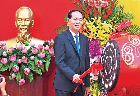 Chu tich nuoc Tran Dai Quang: Giao duc quyet dinh tuong lai dan toc - Anh 1