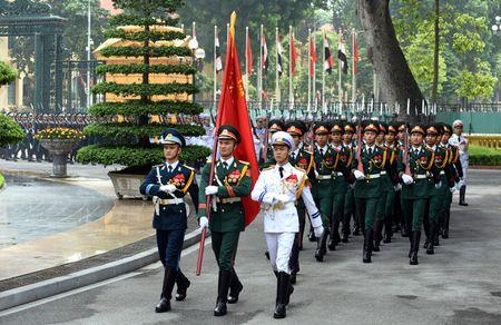Chu tich nuoc Tran Dai Quang chu tri le don Tong thong Ai Cap - Anh 2
