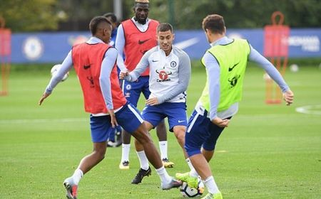 Hazard & Morata tro lai, san tap Chelsea ron rang - Anh 3