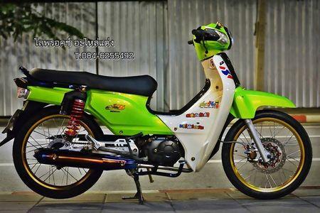 Honda Super Cub 110 'mau me' voi do choi hang hieu - Anh 1