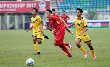 U18 Viet Nam doi mua ban thang len U18 Brunei - Anh 1