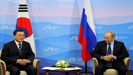 Tong thong Han Quoc nho ong Putin 'kiem che' Trieu Tien - Anh 1