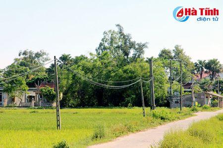 Di doi hang tram cot dien 'chinh inh' giua pho phuong Ha Tinh - Anh 2