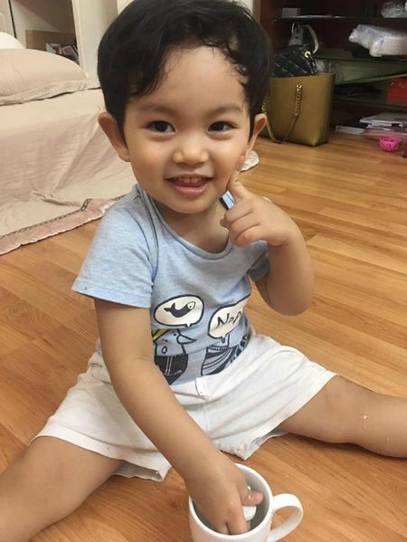 Ba xa Tuan Hung ben 2 con, Tang Thanh Ha khoe anh gia dinh binh di - Anh 5