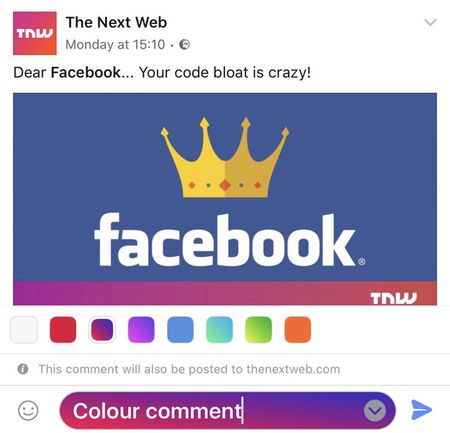 Facebook vua cho phep nguoi dung viet 'comment' voi phong nen sac so, ban da co chua? - Anh 1
