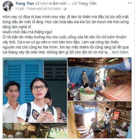 Bi che an mac lo lang khi di tu thien, 'Thanh chui' Trang Tran tuc gian tai xuat khien anti-fan so xanh mat - Anh 3