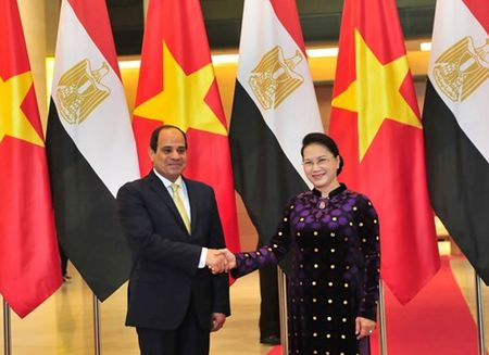 Chu tich Quoc hoi Nguyen Thi Kim Ngan hoi kien Tong thong Ai Cap Abdel Fattah Al Sisi - Anh 1